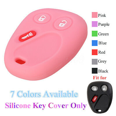 3 Buttons Silicone Car Key Cover Case For GM GMC Chevrolet Chevy Buick Isuzu !
