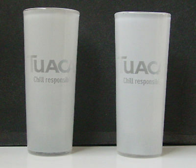 TUACA LIQUORE FROSTED SHOT GLASSES - Pair - Collectible