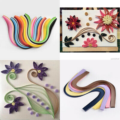 10Bags Quilling Paper Strips Scrapbooking Crafts Mixed Color about 120strips/bag