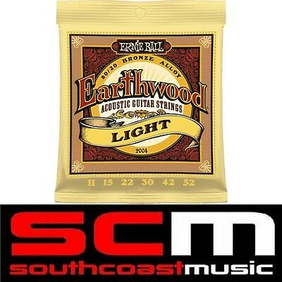 Earthwood 2004 Ernie Ball Acoustic Guitar Strings String Set 11-52 Light 80/20