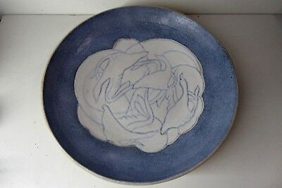 Klytie Pate Art Deco Australian Pottery Bowl Flying Ducks Geese Ceramic Artist