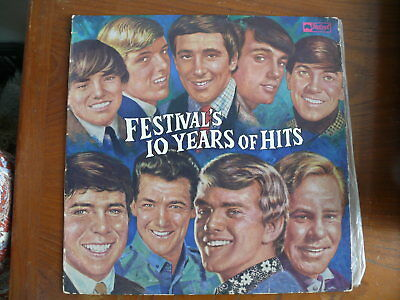 Festival 10 Years Of Hits 1965 Original Lp Album Rare X Estate Record Collection