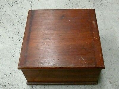 Vintage Australian Cedar Bible Box Case Antique Collectors Estate Lot