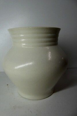 White Glazed Melrose Pottery Art Deco Vase Australian Ceramic