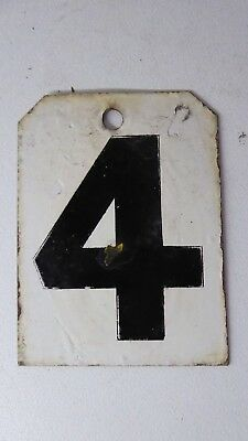 Vintage Metal Sporting Scoreboard Number Ex Sports Club  House Sign Number 4