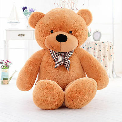 GIANT 60CM BIG CUTE Brown PLUSH TEDDY BEAR HUGE SOFT Toys doll gift