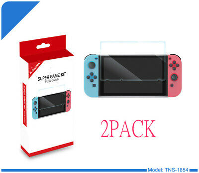 2-Pack For Nintendo Switch Premium Tempered Glass Screen Protector Case Cover DO