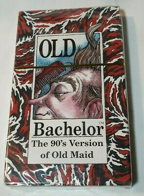 """Old Bachelor Card Game """"The 90's Version Of Old Maid"""" 2-4 players SEALED New"""