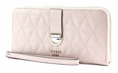 Guess Bluebelle Slg Large Zip Around Portefeuille Blush Rose Neuf