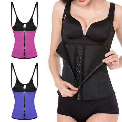 FEMMES FITNESS CORSET Taille Baskets Serre-Taille Modelant Fin Gilet ... f136a591955