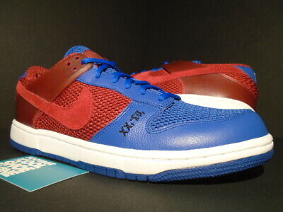 100% authentic 2e76a 2d55c 2007 Nike Sb Air Zoom Dunkesto Barcelona Dunk Low Presto Red Blue  315207-661 9.5