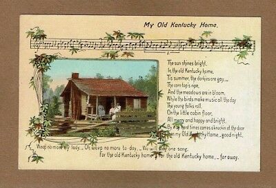 My Old Kentucky Home Cw Vittitow Federal Hill Bardstown Hand Signed