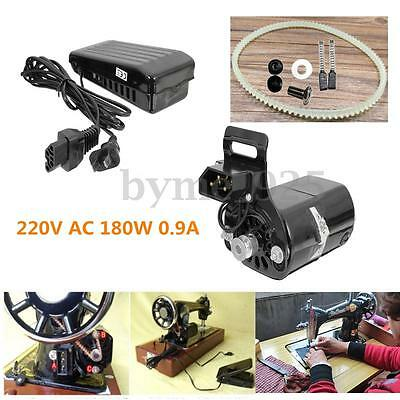 220V 180W 0.9A Black Domestic Household Old Sewing Machine Motor +