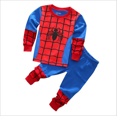 2pcs Kids Baby Boys Long Sleeve Spider-Man Tops+Pants Children Cotton Clothes