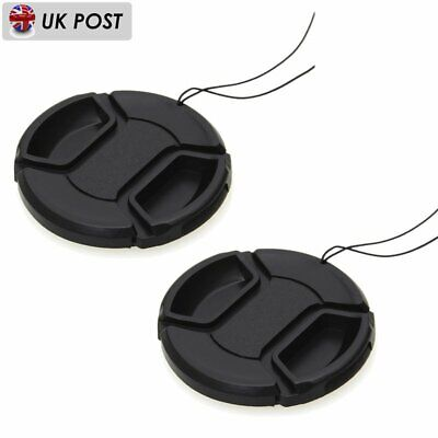 2 PCS 52mm Snap-On Front Lens Cap Cover For Canon Nikon Sony Olympus Camera