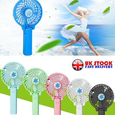Mini Portable Pocket Fan Cool Air Hand Held Battery Travel Blower Cooler Uk