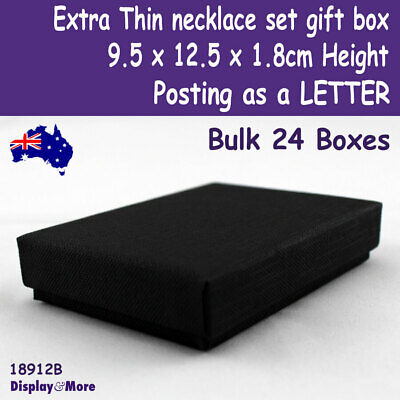 24 Jewellery Gift Box THIN | 9.5 x12.5 x1.8cm | Posting as a LETTER | OZ Seller