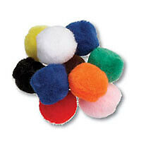 Trimits HP2 | Pom Poms with Holes Toy Making 12mm 50 pack
