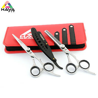 """Professional Barber Hairdressing Scissors And Thinning 7"""" In JAPANESE STEEL"""