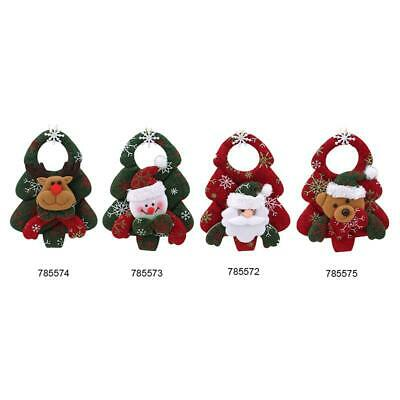 Christmas Decor Santa Claus Snowman Elk Toy Xmas Tree Hanging Ornaments LC
