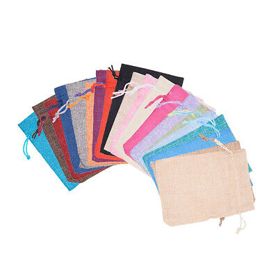 40 Pcs Small Linens Draw String Party Favour Bags For Soap Candle Jewelry