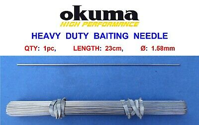 PIKE DEADBAIT RIGGING NEEDLES APPROX 26.5cm LONG latch and loop