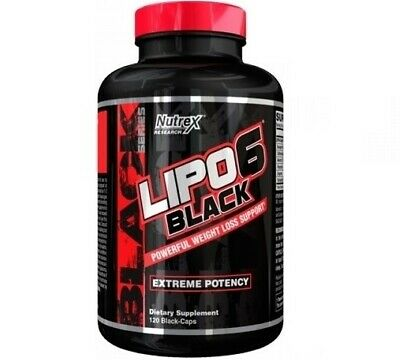 Nutrex LIPO 6 BLACK 120 Weight Loss Support EXTREME FAT DESTROYER BURNER *LEGAL