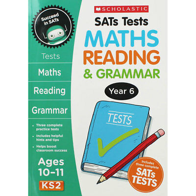 Year 6 SATs Practice Tests KS2 - Maths Reading and Grammar, Brand New