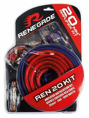 Renegade Kabelset REN20KIT 20mm² 60 A Stromkabel Audiokabel Sicherung *UVP 34,90