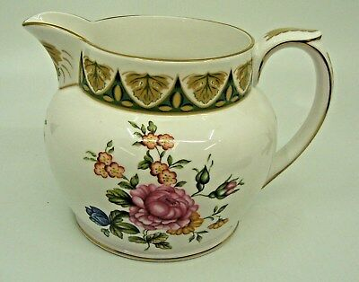 Spode Cabinet Collection Pitcher Jug Milward Rose Flowers England