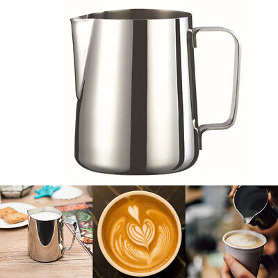 Stainless Steel 7 Sizes Milk Frothing Jug Frother Coffee Latte Metal Container
