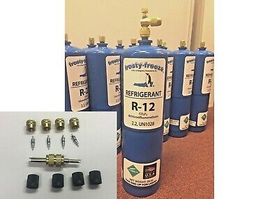 R12, Refrigerant 12, Virgin Pure R-12, 28 oz. Includes On/Off Valve, Kit A7
