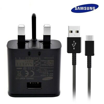 100% Genuine Fast Charger Plug & Usb C Type Cable For Samsung S8 S9+ A5 2017/18