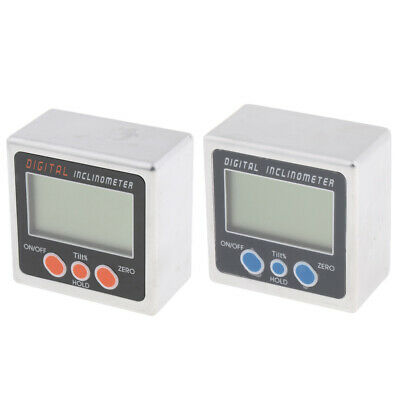 Alloy Electronic Angle Cube Digital Level Inclinometer Gauge Meter Bevel Box