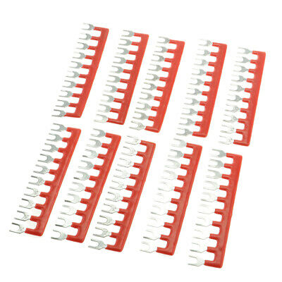 10 Positions Wire Connector Pre Insulated Fork Type Barrier Terminal Strip