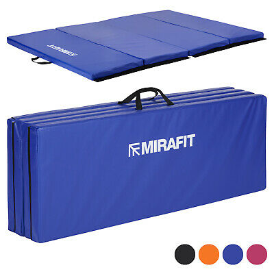 Mirafit Large 6ft Folding Gym Floor Mat Workout/Gymnastics/Ab/Exercise/ Fitness