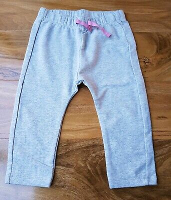 Mini Boden Baby Girls Grey Cosy Cotton Essential Jersey Trousers Brand New