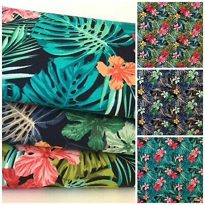 Tropical  floral design 100% Cotton Fabric, sold per half metre / fat quarter