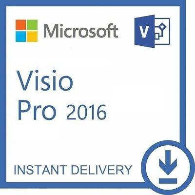 Microsoft VISIO 2016 Pro Professional MS Original Product Key Code Full Version