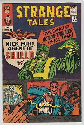 Strange Tales # 135   -Vf  1St Nick Fury Agent Of Shield Stan Lee  Cents  1965