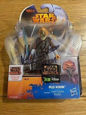 Plo Kloon Hasbro Legend Clone Wars Signed By Alan Ruscoe Autograph