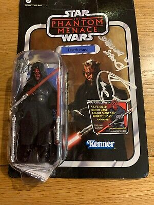 StarWars Action Figure DARTH MAUL VC86 Vintage Card Signed By Ray Park Autograph