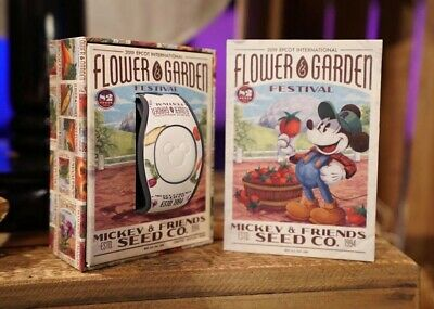 2019 Disney Flower & Garden EPCOT Mickey & Friends Seed Co. Magic Band LE NEW