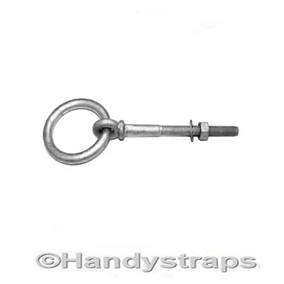 Ring bolts Collared 6mm Galvanised with nut  Handy Straps