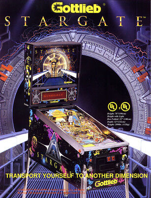 Gottlieb STARGATE Original 1994 NOS Pinball Machine Flyer Space Age Cool Artwork