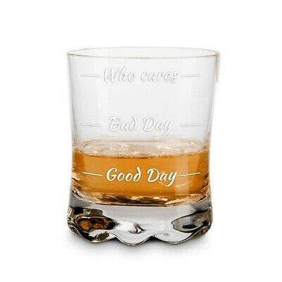 Whiskeyglas Wie war dein Tag? Whiskyglas How was your day? Whiskey Tumbler