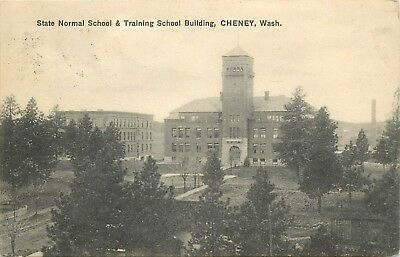 State Normal School & Training Center, Cheney WA Divided Back Postcard