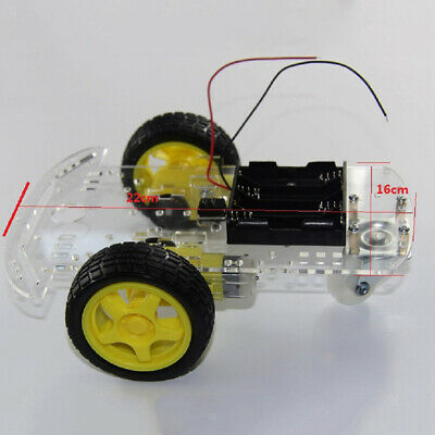 2WD RC Smart Robot Car Chassis Kit w/ Speed Encoder TT Motor For Arduino Toy