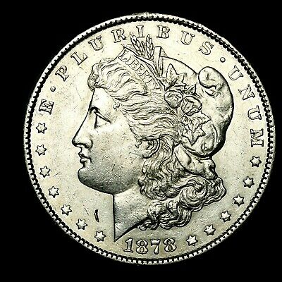 1878 S ~**ABOUT UNCIRCULATED AU**~ Silver Morgan Dollar Rare US Old Coin! #923