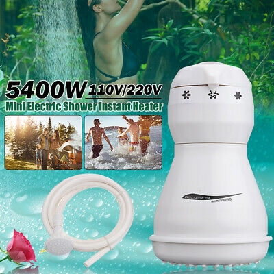 Portable Electric Hot Water Heater Outdoor Camping Caravan Instant Shower 220V